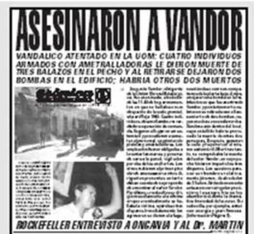 Asesinato de Augusto Vandor