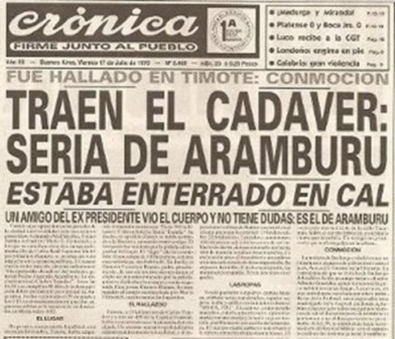 Secuestro y asesinato del General Aramburu