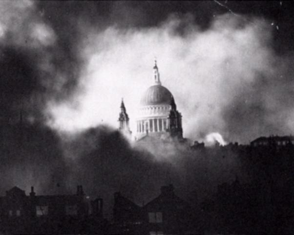 Start of Blitz on England