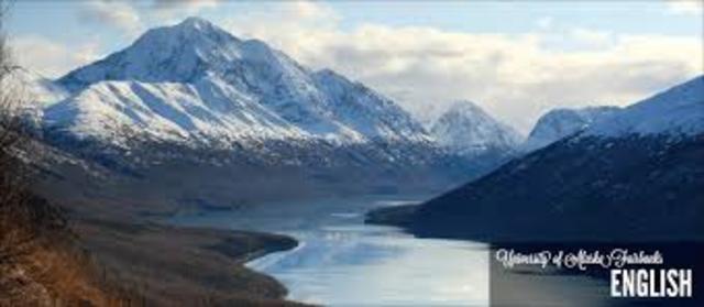 Arrives in Fairbanks, Alaska