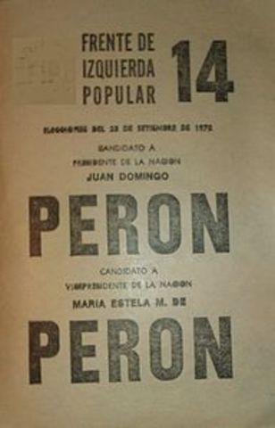 Lanzamiento de la candidatura de Perón