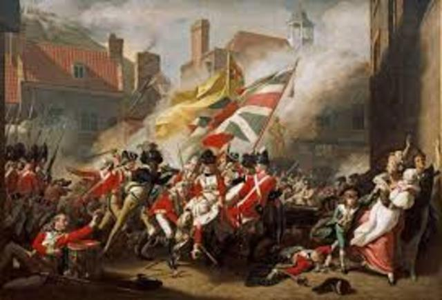 Fight between Britain and French