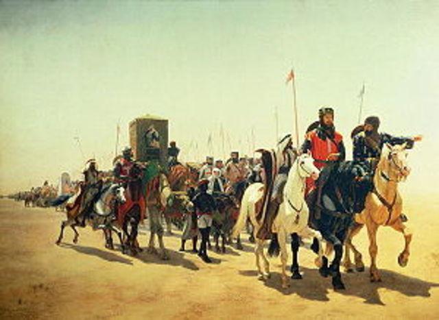 Nomaden plunderden vooraadschuren.