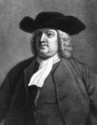 William Penn received royal grant of Pennsylvania from King Charles II
