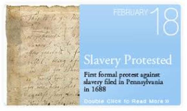 Germantown Quakers adopted first antislavery resolution in America