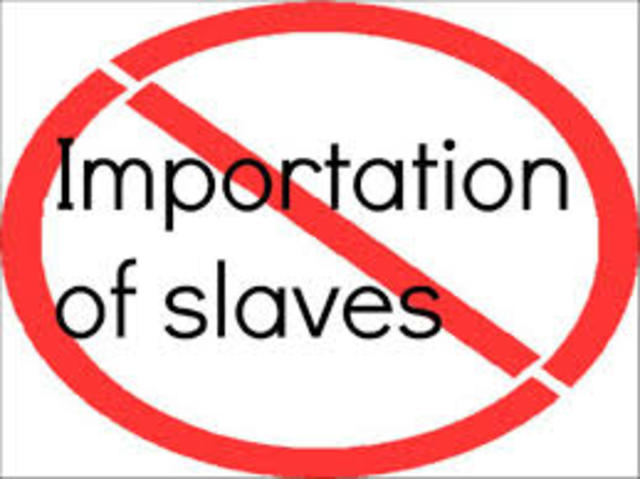 Pennsylvania Assembly banned importing of slaves