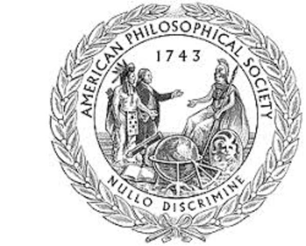 Benjamin Franklin established American Philosophical Society in Philadelphia