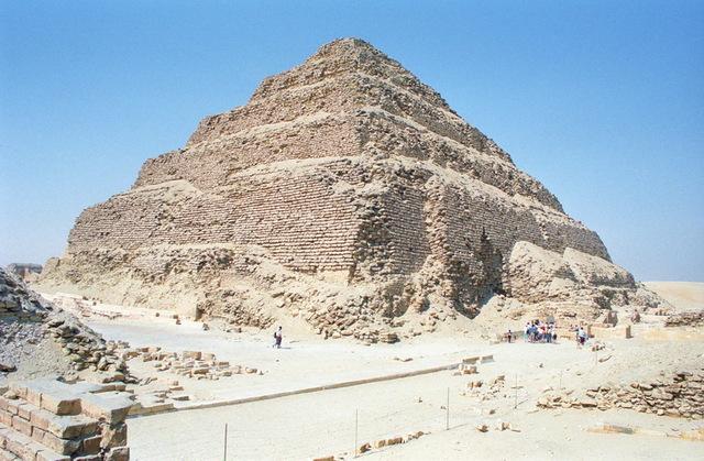 Eerste Egyptische piramide.