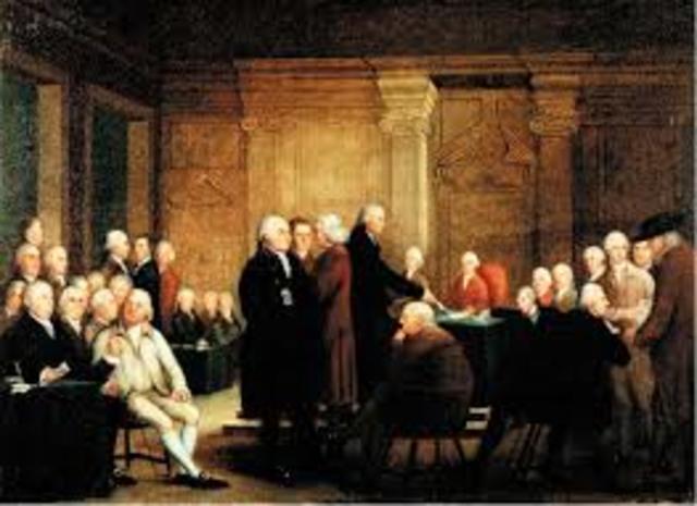 Second Continental Congress met, George Washington named supreme commander; postal system for colonies established, Benjamin Franklin first postmaster general