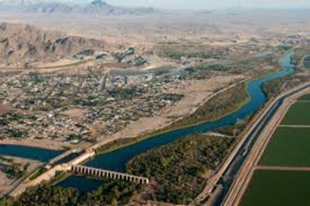 Morelos Dam, Mexican Border, & El Golfo de Santa Clara. (Event #6)