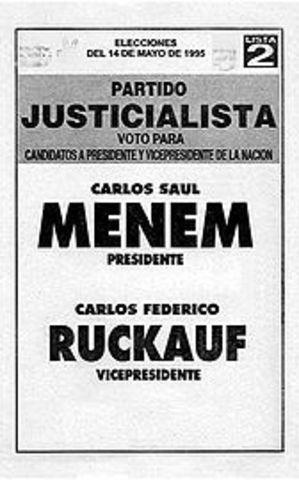 Elecciones presidenciales: la reelección de Menem