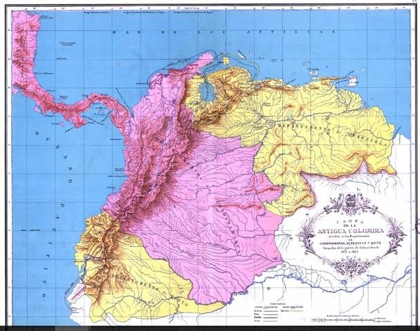 Geografía de la Gran Colombia