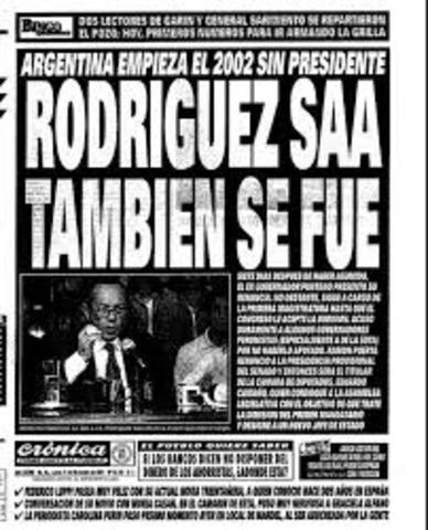 Renuncia de Rodríguez Saa