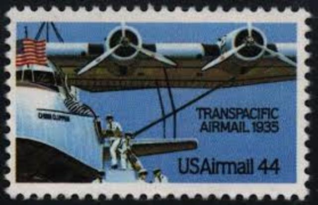 First transpacific mail service