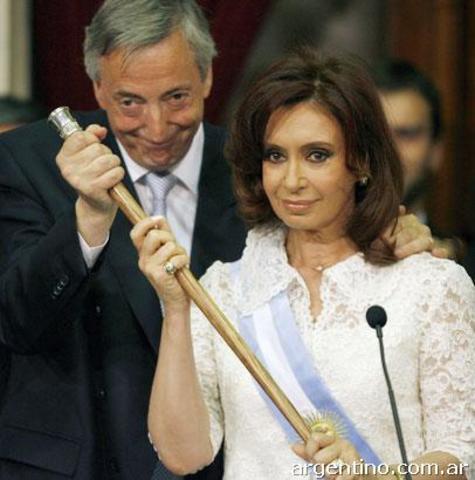 Asume como presidente Cristina Fernández de Kirchner