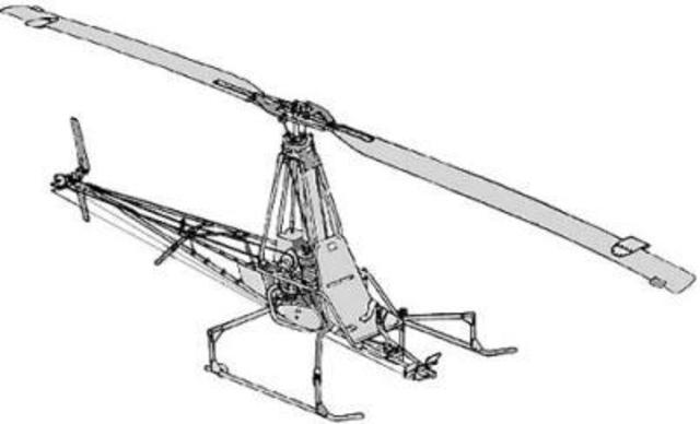 First practical single rotor helicopters