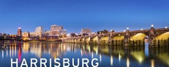 Harrisburg became state capital