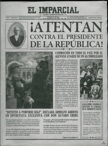 Attempt against Porfirio Díaz (national date)