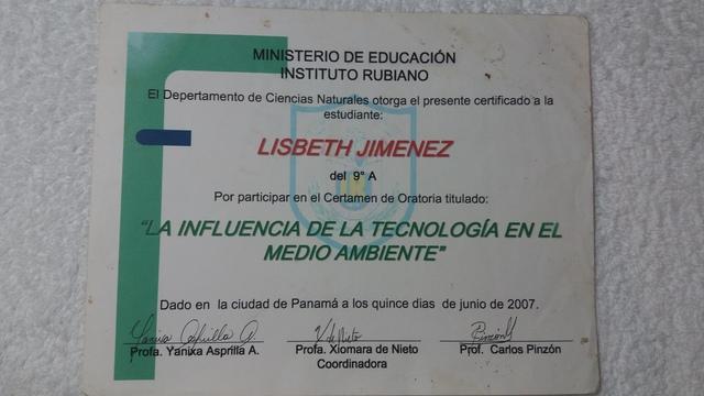 CERTAMEN DE ORATORIA -9no A
