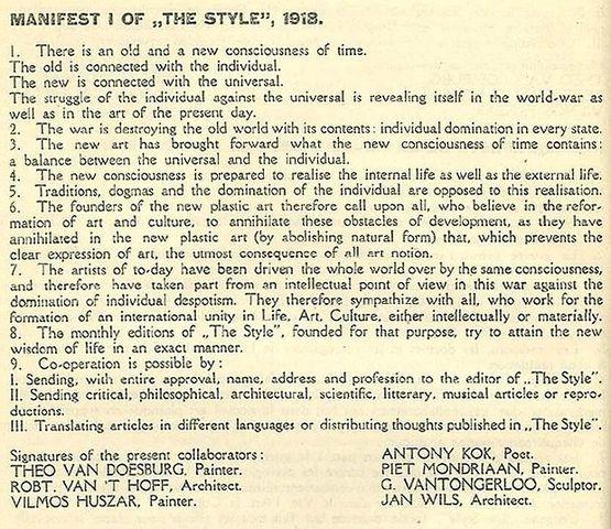 Manifest von De Stijl
