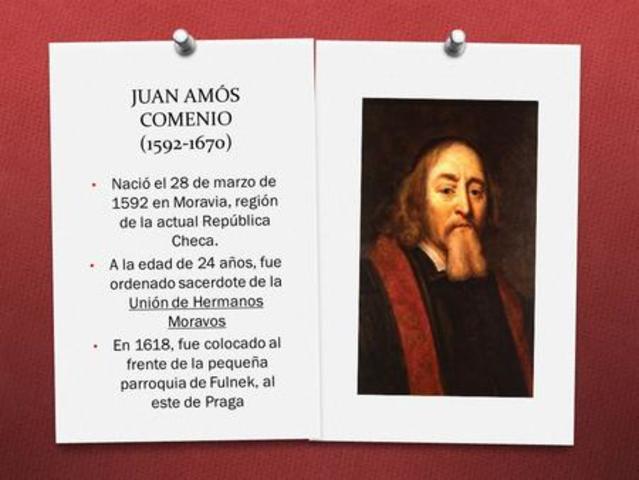 Juan Amos Comenio, Realista.Pedagogo y Psicólogo (1592-1670),