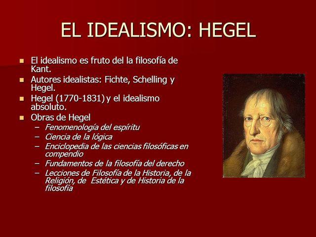 Hegel, Idealista