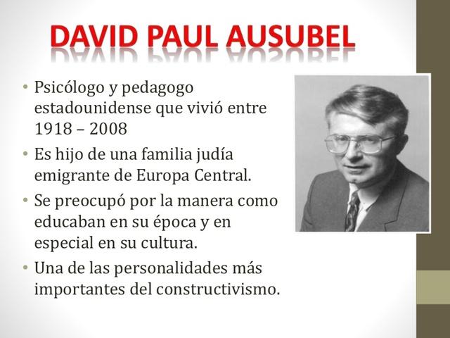 David Ausubel, Constructivista