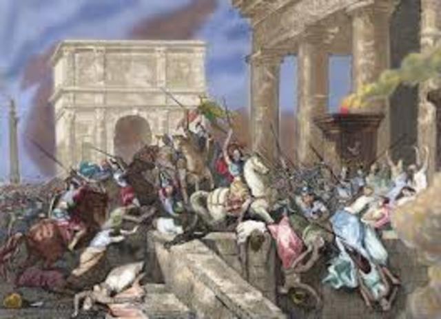 Gaulic invasion sacked Rome