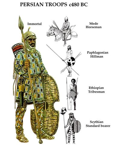 Persian Empire elite force of soldiers