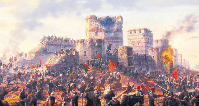 Constantinople conquered by Ottoman Muslims