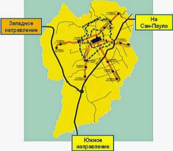 Новая схема городской транспортной системы