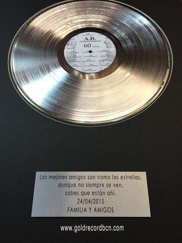Disco de platino a la Oreja de Van Gogh