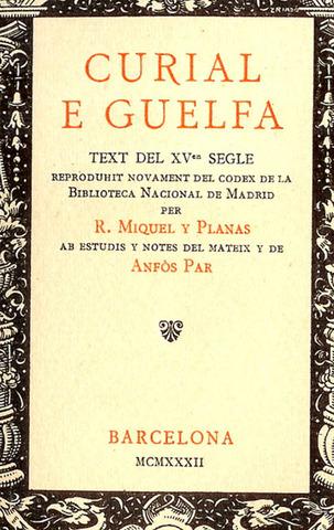 Publicació de Curial e Güelfa