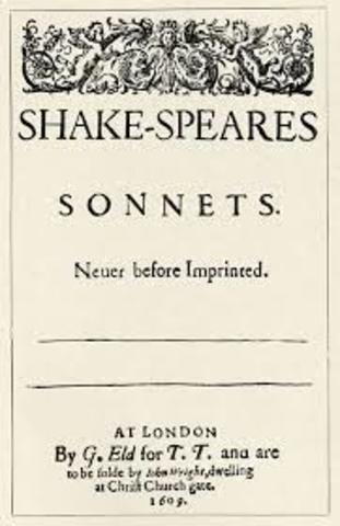 1609 Shakespeare's sonnets are published