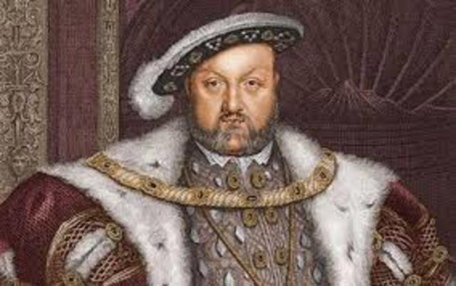 c. 1543 With the Supremacy Act, Henry VIII proclaims himself head of Church of England