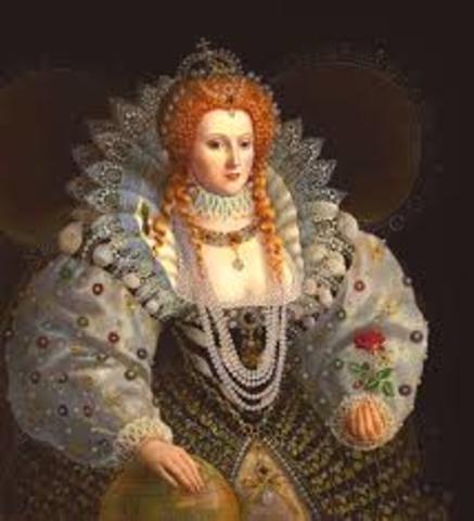 1558 Elizabeth I becomes queen of England