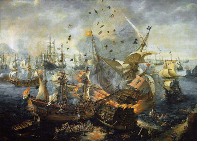 Phillip II's Spanish Armada was defeated by England.