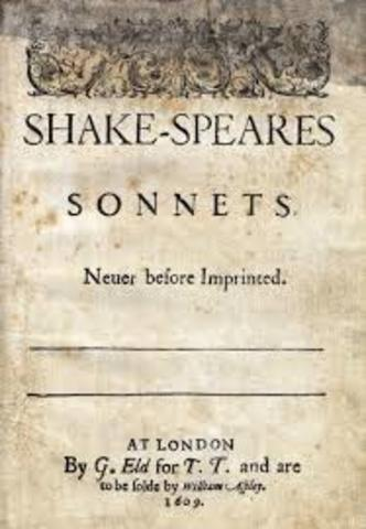 Shakespeare's sonnets are published