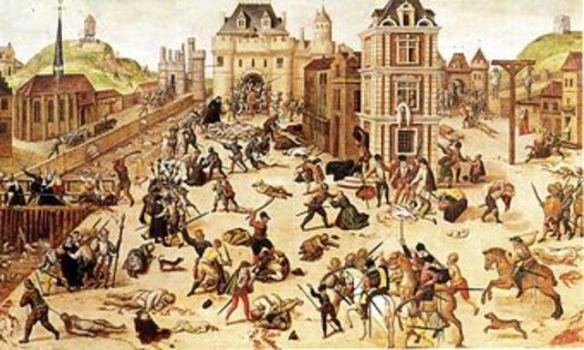 St. Bartholomew's Day Massacre occurred.