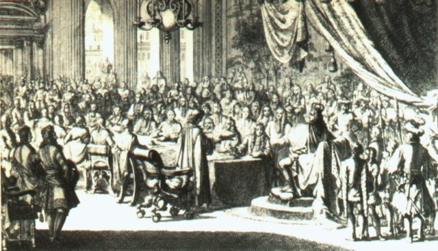 Louis XIV cancelled the Edict of Nantes.