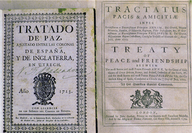 Treaty of Utrecht was signed ending the War of the Spanish Succession.