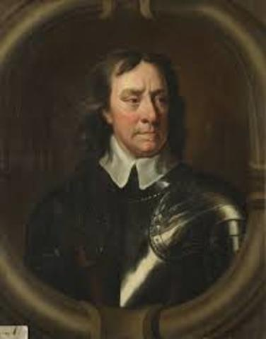 Oliver Cromwell became the Lord Protector of the Commonwealth in England.