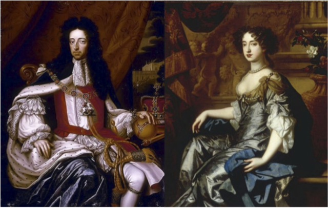 William and Mary became the King and Queen of England (Glorious Revolution).