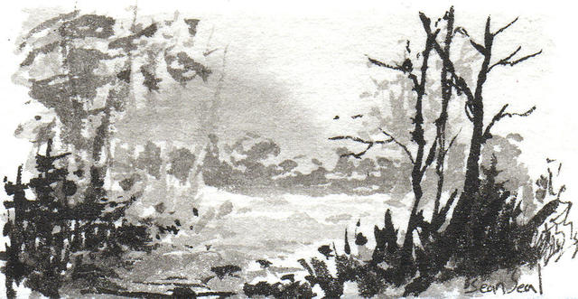 Zen Ink-Painting dominates Japanese art