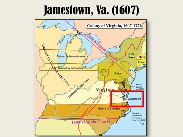 First Permanent English settlement in North America is established at Jamestown, Virginia.