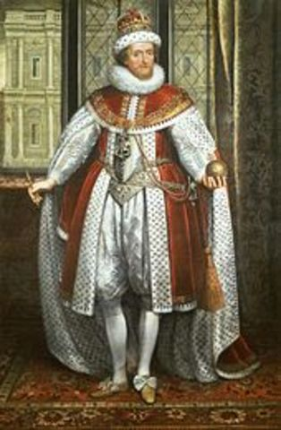 James I became the King of England.