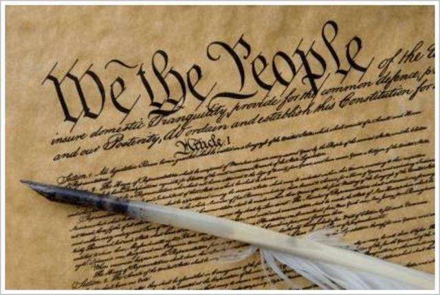 U.S. Constitution is Written