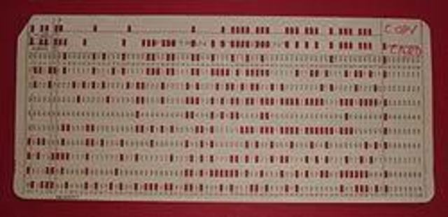 Se Inventa la Tarjeta Perforada