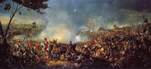 Napoleón pierde en la Batalla de Waterloo y es desterrado hasta su muerte