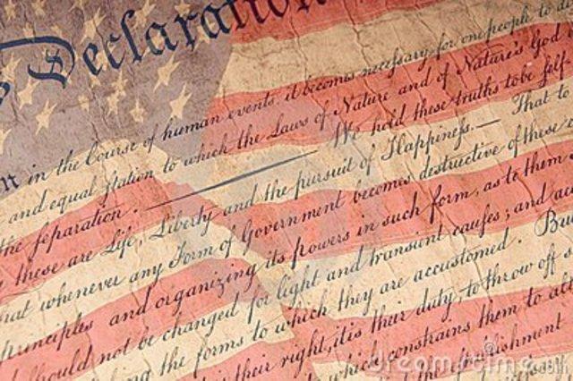 Declaración de Independencia de EEUU.
